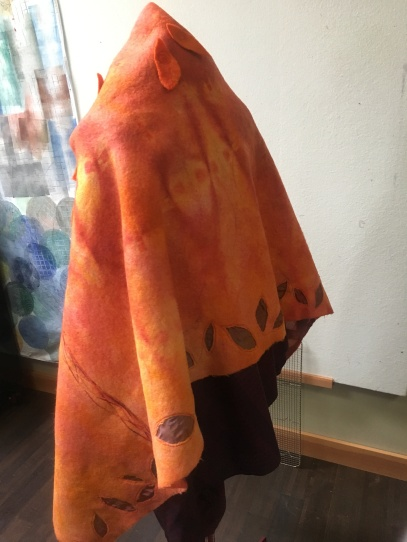 Felted Wool Cape