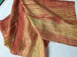 Natural Dyes on Silk using Shibori technique